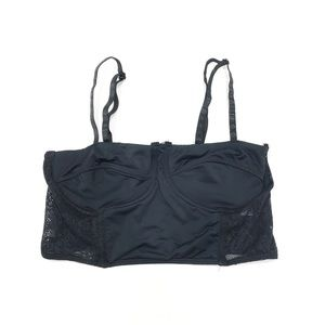 Pins and Needles Black Bustier Bralette